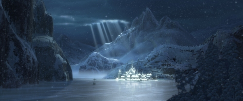 """FROZEN"" Arendelle in Winter concept art. ©2013 Disney. All Rights Reserved."