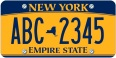 NYC liscense plate